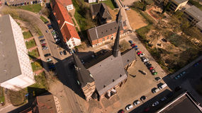 Zwickau aerial view old town germany Royalty Free Stock Photography