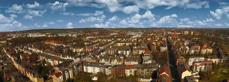 Zwickau aerial view old town germany Stock Photos
