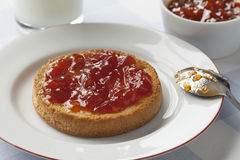Zwieback with jam Stock Images