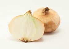Zwiebel auf einem weißen Hintergrund Lizenzfreie Stockfotos