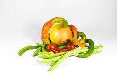 Zwiebel, Paprika und Tomaten. stockfotografie