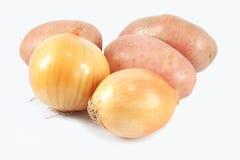 Zwiebel und Kartoffel stockfoto