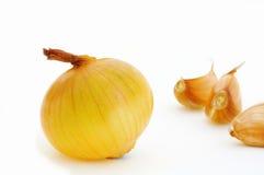 Zwiebel und Knoblauch Stockbild