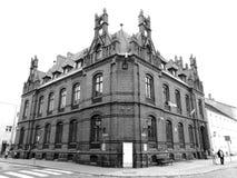 Zwiedzać Chelmno Artystyczny spojrzenie w czarny i biały Obrazy Royalty Free