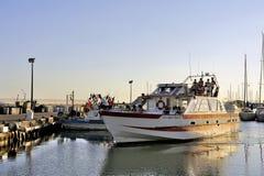 Zwiedzająca łódź Fotografia Royalty Free