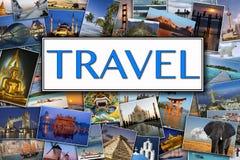 Zwiedzające fotografie - Międzynarodowa podróż obraz royalty free