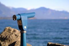 Zwiedzający binoscope, spyglass zdjęcie stock