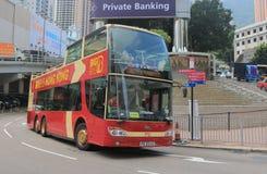 Zwiedzający turystyczny autobus Hong Kong obraz stock