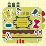 zwierząt elementów ładny scrapbook Ilustracja Wektor