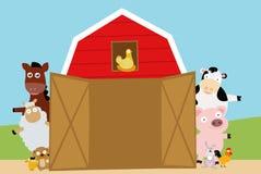 zwierząt gospodarstwa rolnego krajobraz wiele sheeeps lato royalty ilustracja