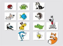 zwierząt kreskówka rysujący ręka odizolowywający wektorowy biel Zdjęcie Stock