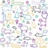 zwierząt kreskówki ilustracyjny setu wektor Zdjęcie Royalty Free