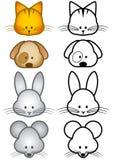zwierząt kreskówki ilustracyjny zwierzęcia domowego setu wektor Obraz Royalty Free