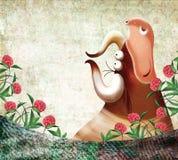 zwierząt tła gospodarstwo rolne Zdjęcie Royalty Free