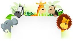 zwierząt tła letterhead dziki Obrazy Stock