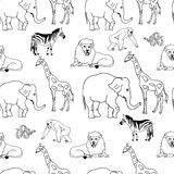 Zwierzę bezszwowy wzór Obraz Royalty Free