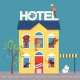 Zwierzę domowe hotel ilustracja wektor