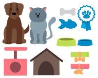 Zwierzę domowe ikony ilustracja wektor