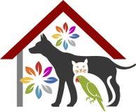 Zwierzę domowe opieki logo royalty ilustracja