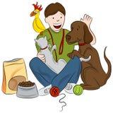 Zwierzę domowe opiekun ilustracja wektor