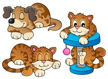 Zwierzę domowe różnorodna kolekcja (1) Obrazy Royalty Free