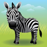 zwierzęca dziecka kolekci zebra ilustracja wektor