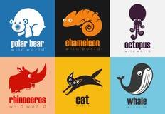 Zwierzęca ikona Ustawiająca - Dziki świat Obraz Royalty Free