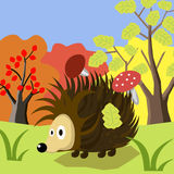 Zwierzęca jeż kreskówka Obrazy Royalty Free