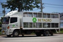 Zwierzęca klatka zbiornika ciężarówka Betagro Zdjęcia Royalty Free