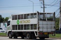 Zwierzęca klatka zbiornika ciężarówka Betagro Zdjęcie Royalty Free