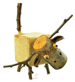 Drewniana zwierzęca lala Obraz Royalty Free