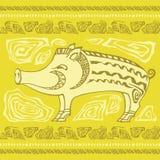 Zwierzęca ornamentacyjna świnia Obrazy Stock