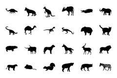 Zwierzęce Wektorowe ikony 2 Zdjęcia Royalty Free