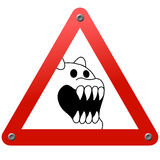 zwierzęcego niebezpieczeństwa drogowy straszny znak Fotografia Stock