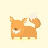 zwierzęcej dziecka tła kreskówki śliczny lisa biel Obraz Royalty Free