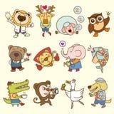 zwierzęcej kreskówki szczęśliwy ilustraci wektor Obrazy Royalty Free
