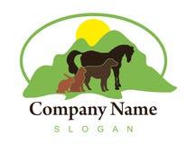 Zwierzęcia gospodarstwa rolnego logo na białym tle Obrazy Royalty Free