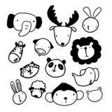 Zwierzęcia nakreślenia projekt ilustracja wektor