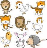 zwierzęcy śliczny set Zdjęcie Stock