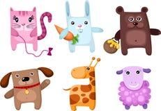 zwierzęcy śliczny set Fotografia Stock