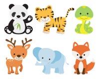 zwierzęcy śliczny set Fotografia Royalty Free