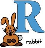 zwierzęcy abecadło królik r Fotografia Stock