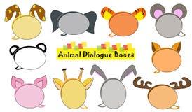 Zwierzęcy dialog pudełka ilustracji