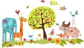 zwierzęcy duży set Fotografia Stock