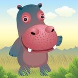 zwierzęcy dziecka kolekci hipopotam royalty ilustracja
