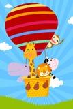 Zwierzęcy i gorący balon Obraz Royalty Free