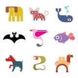 Zwierzęcy ikona set Obrazy Royalty Free