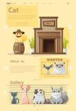 Zwierzęcy infographic z kotem i ilustracja wektor
