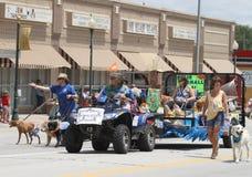 Zwierzęcy klinika pławik w paradzie w miasteczku Ameryka fotografia royalty free