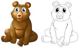 Zwierzęcy kontur dla grizzly niedźwiedzia ilustracji